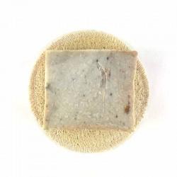 Porte savon rond lofa naturel avec savon rustique La Cardabelle