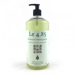 Solution sans alcool pour se laver les mains sans eau. Bouteille recharge de 1L senteur neutre.