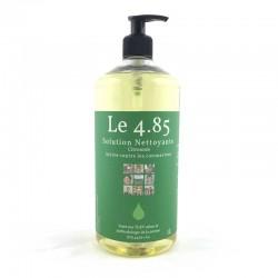 Solution sans alcool pour se laver les mains sans eau. Bouteille recharge de 1L senteur citronnée.