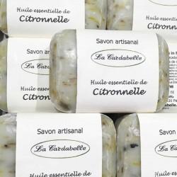 Savon artisanal fabriqué en France à l'huile essentielle de citronnelle