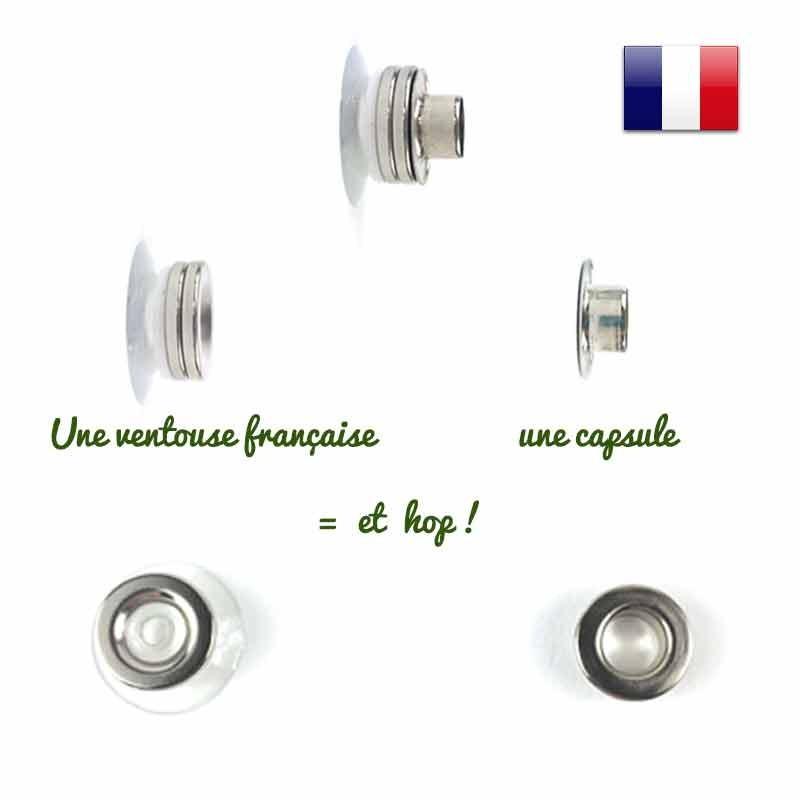 Porte savon minimaliste aimanté fabriqué en France