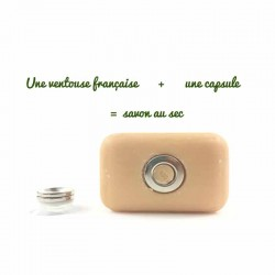 une ventouse une capsule porte savon minimaliste
