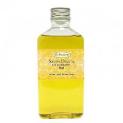 Savon liquide pour la douche sans cochonneries avec du miel et de l'huile d'olive et de coco.
