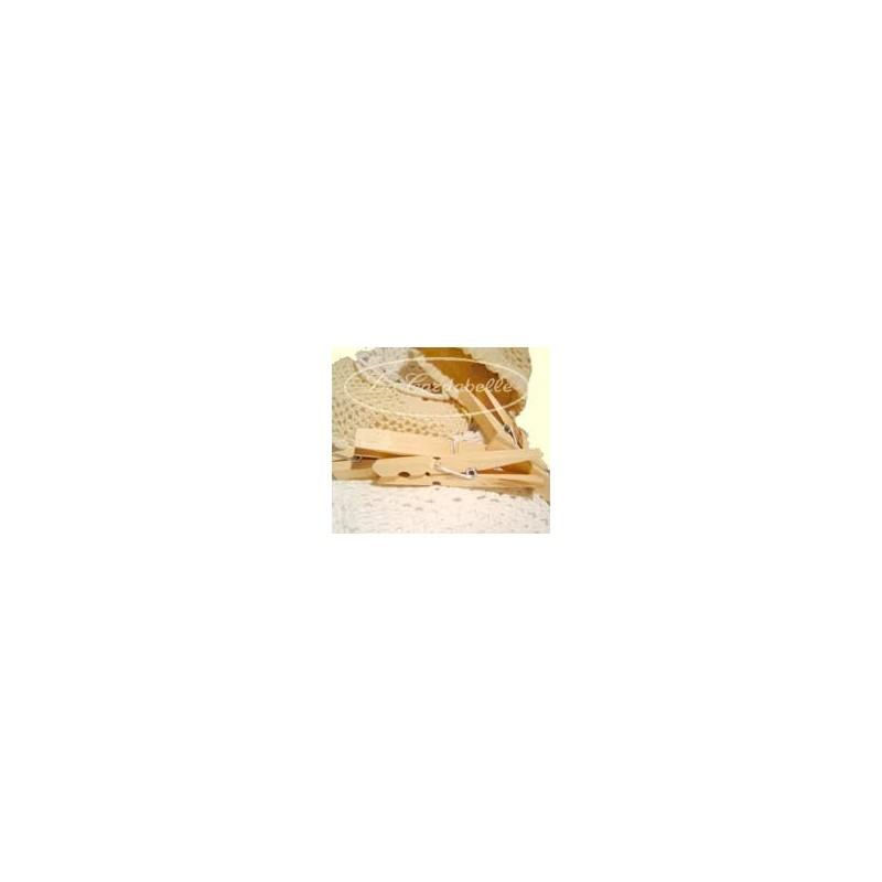 Pince à linge en bois Géantes Sachet coton