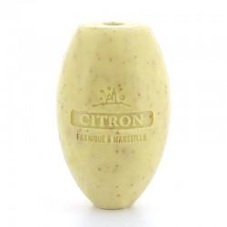 Recharge savon rotatif exfoliant au citron et son pour porte-savon d'écolier mural