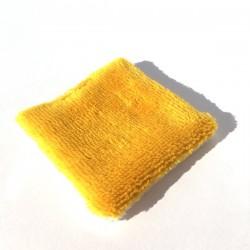 Lingette bambou double face jaune safran