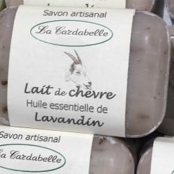 Savon au lait de Chèvre et huile essentielle de lavandin La Cardabelle