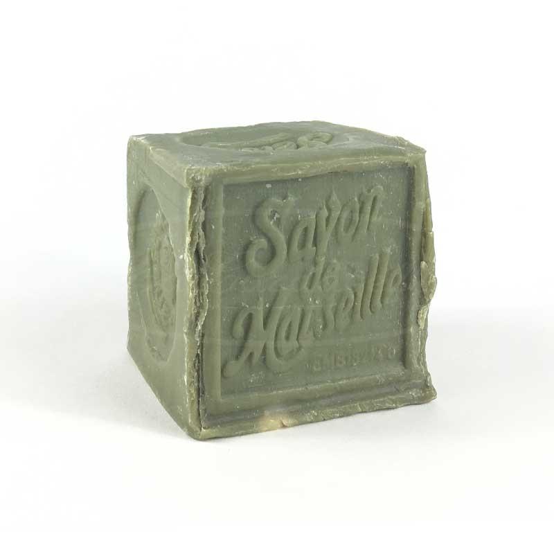 Savon de Marseille 300 gr vert en bloc 72% d'huile