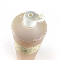 Savon noir liquide à l'huile de lin bouteille un litre bouchon réducteur
