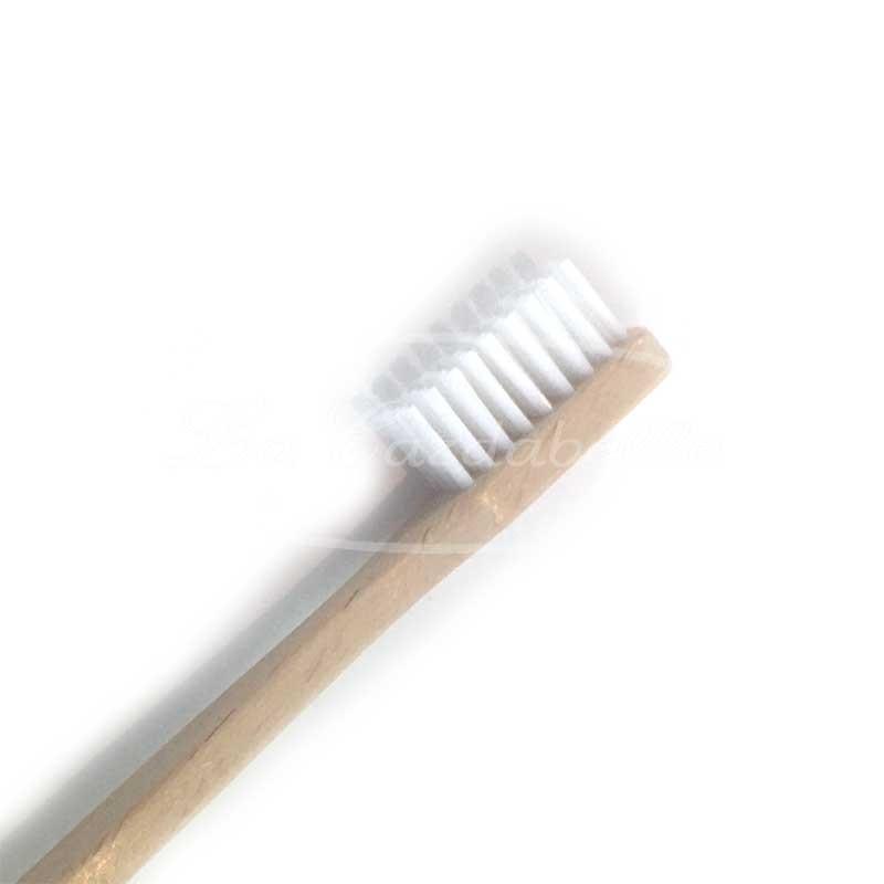 Brosse à dents en bois de hêtre vegan poils de ricin