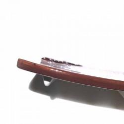 Porte-savon céramique lézard marron avec pieds
