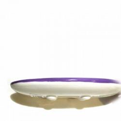 Porte-savon céramique brin de lavande avec pieds
